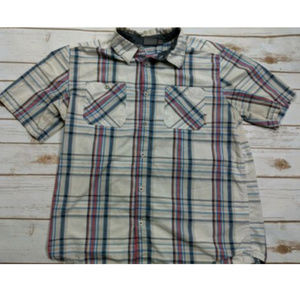 Merrell Mens L Short Sleeve Button Down Shirt